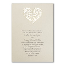 Modern wedding Invitation: Latte Heart
