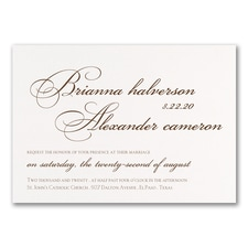 Personal Typography - Invitation - White