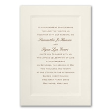 Simple wedding invitations: Ecru Tradition