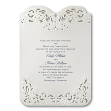 laser cut invitation: Elegant Lace