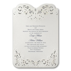 Elegant Lace - Wedding Invitation
