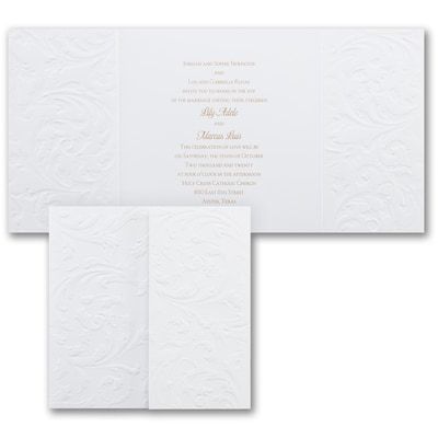 Antique Flourish - Invitation