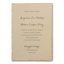 rustic invitation: Kraft Deckle