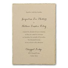 Wedding Invitation: Kraft Deckle