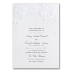 Pearl Floral - Wedding Invitation