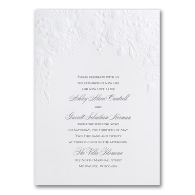 Pearl Floral - Invitation
