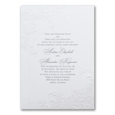 Wedding Invitation: Antique Elegance