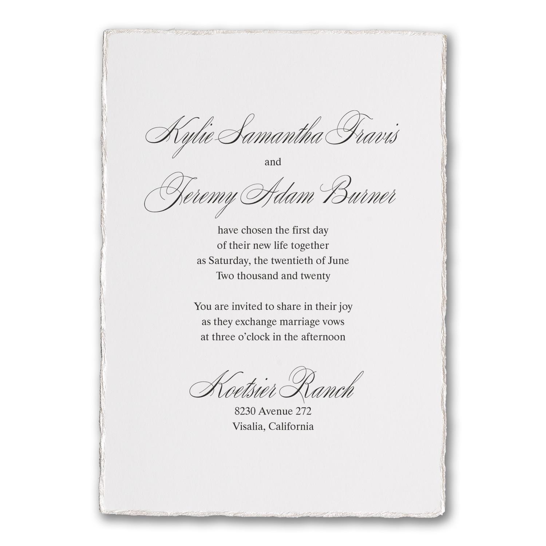 Deckled Elegance Invitation Wedding Invitations Carlson Craft