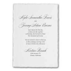 Deckled Elegance - Wedding Invitation