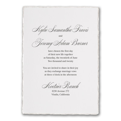 Deckled Elegance - Invitation