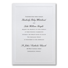 Elegant Wedding Invitations: Shimmering Wedding