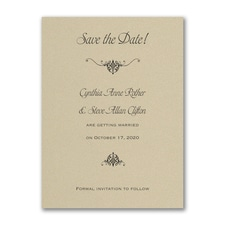 Wrapped in Gold - Save the Date