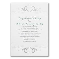 Swirled in Silver - Wedding Invitation