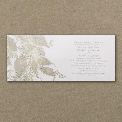 Golden Swirls - Invitation