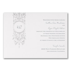 Silver Chandelier - Wedding Invitation