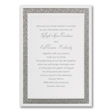 Border invitation: Silver Love