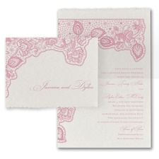 Lace Flourish - Invitation