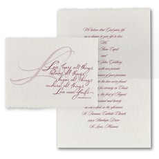 Love Never Fails - affordable and cheap invitation