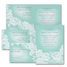 Vintage wedding invitation: Lace Appeal