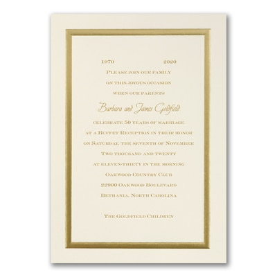 Golden Memories - Invitation