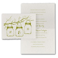 Monogram Lantern - Invitation