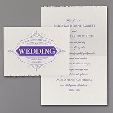Vintage Flair  - affordable and cheap invitation