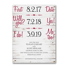 Rustic Timeline - Save the Date