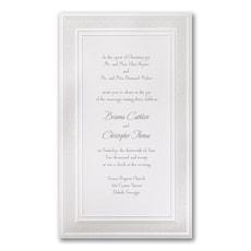 White Lace - Wedding Invitation