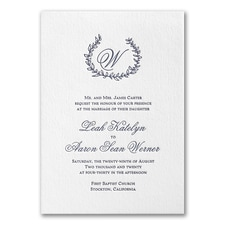 Letterpress wedding invitations: Whimsical Day