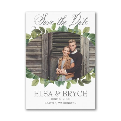 Lovely Leaves - Save the Date Magnet