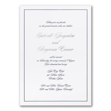 Elegant Beginning - affordable and cheap invitation