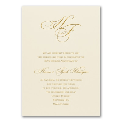 Anniversary Celebration - Invitation