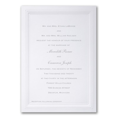 White Paneled - Invitation