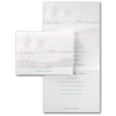 Tropical Sunset - Wedding Invitation