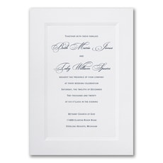 Paneled - affordable and cheap invitation
