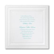 Bright White Squares - Wedding Invitation