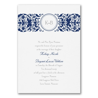 Filigree Splash - Invitation