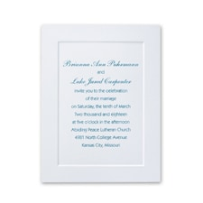 White Paneled Petite - Invitation