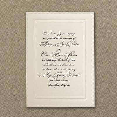 Classic Ecru - Engraved Invitation