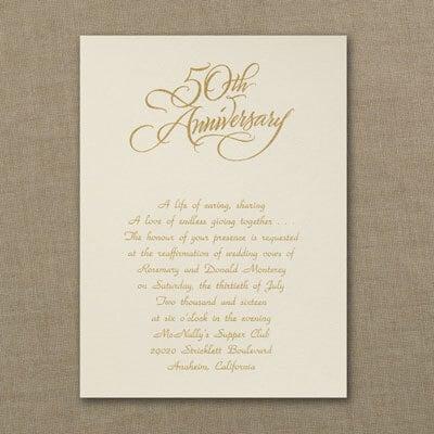 Golden - Invitation