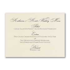 Simplicity Horizontal Menu Card - Ecru