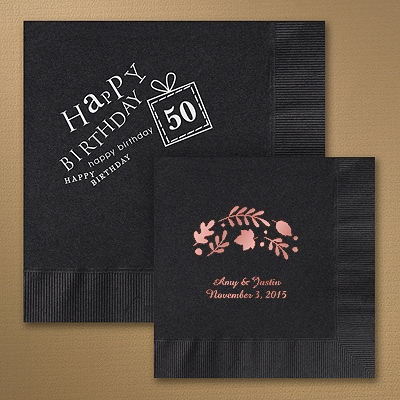 Black Napkins