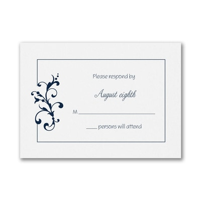Little Love Birds - Response Card and Envelope - White