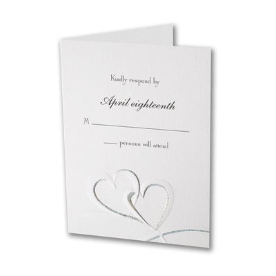Shimmering Hearts - Response Card and Envelope