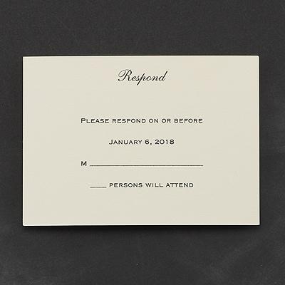 Golden Opulence - Response Card and Envelope