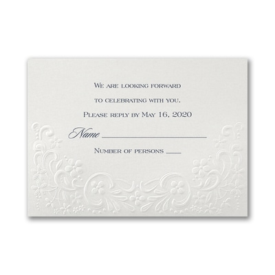 Elegant Lace - Response Card and Envelope