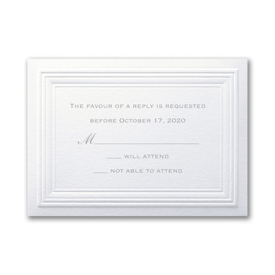 White Paneled - Response Card and Envelope
