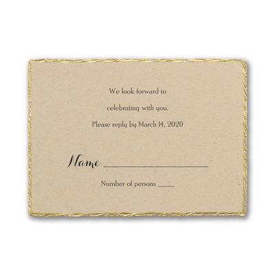 Kraft Deckle - Response Card and Envelope