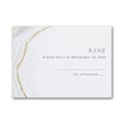 Golden Agate - Response Card and Envelope