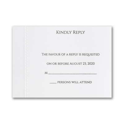 Elegant Entrance - Response Card and Envelope